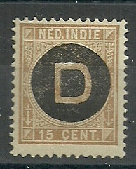 Nederlands Indië Dienst  3 15ct 1892-1897 Postfris