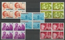Nvph 870/874 Kinderzegels 1966 in Blokken Postfris