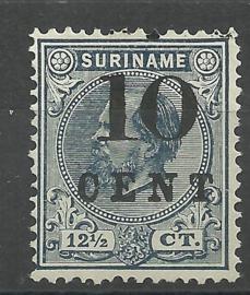 Suriname  29 (Type I) 10ct op 12½ct Hulpuitgifte Ongebruikt (1)