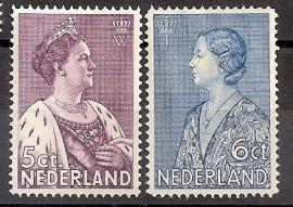Nvph 265/266 Crisiszegels Ongebruikt