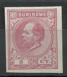 Suriname   3b  rose 5ct Berlijnse Kleurproef Ongebruikt (1)
