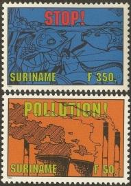 Suriname Republiek  801/802 Milieubescherming 1994 Postfris
