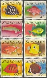 Suriname Republiek  27/34 Vissen 1976 Postfris