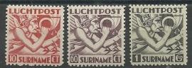 Suriname LP20/22 Mecurius Engelse druk  Ongebruikt
