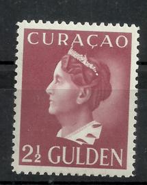 Curacao 152 2½ gld Wilhelmina Konijnenburg Postfris (1)