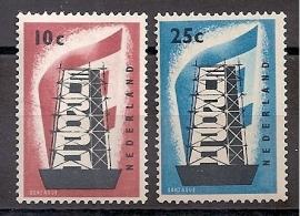 Nvph 681/682 Europa 1956 Postfris