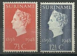 Suriname 274/275 Jubileumzegels Postfris