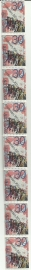 Plaatfout 1064a PM Postfris in 8 strip (Deel Oplage)