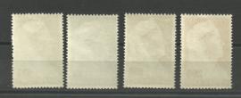 Suriname 175/178 Wilhelmina met Sluier Postfris (3)