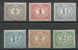 Nvph  50/55 Cijferzegels 1899-1913 Postfris (10)