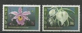 Aruba 300/301 Arubaanse Orchideeën Postfris