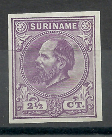 Suriname   1d  violet 2½ct Berlijnse Kleurproef Ongebruikt (1)