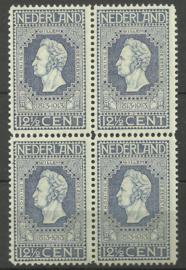 Nvph  94 12½ct Jubileum 1913 blok van 4 Postfris (1)