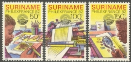 Suriname Republiek 301/303 Int. Postzegeltent. PhilexFrance 1982 Postfris