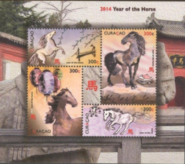 Curaçao Status Aparte 197 Blok Jaar van het Paard 2014 Postfris