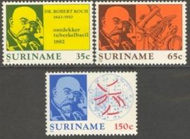 Suriname Republiek 305/307 Dr. Robert Koch 1982 Postfris