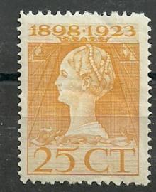 Nvph 126H (11½×12½) 25 ct Jubileum 1923 Postfris (3)