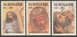 Suriname Republiek  687/689 Paasweldadigheid 1991 Postfris