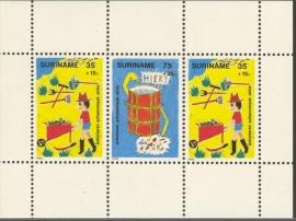 Suriname Republiek 317 Blok Kinderzegels 1982 Postfris