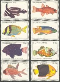 Suriname Republiek 172/179 Luchtpost Vissen 1979 Postfris