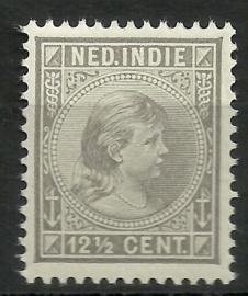 Nederlands Indië  24 12½ct Prinses Wilhelmina Postfris (1)