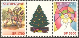 Suriname Republiek 1219/1220 BP Kerst en Kind zegels 2003 Postfris