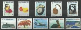 Sint Maarten  31/40 Frankeerzegels (1/5 + 8/12) Postfris