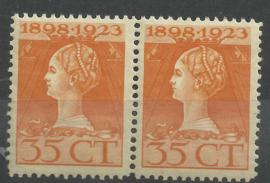 Nvph 127B (11×11½) 35 ct Jubileum 1923 in paar Postfris (1)