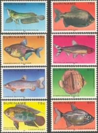 Suriname Republiek 216/223 Luchtpost Vissen 1980 Postfris