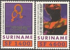 Suriname Republiek 1110/1111 UNIFEM 2001 Postfris