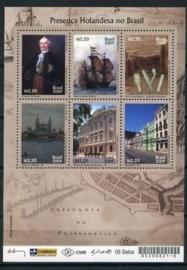 Nvph V2658/2663d Grenzeloos Brazilië - Nederland Postfris (Joint Issue)