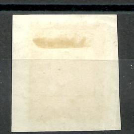 Nederlands Indië   2 10ct Wijnrood Willem III Halfrond  Pangoeroean op papier