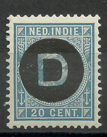 Nederlands Indië Dienst  4 20ct 1892-1897 Postfris (1)