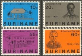 Suriname Republiek 124/127 200 Jaar Stadskerk 1978 Postfris