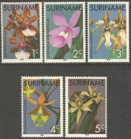 Suriname Republiek  12/16 Orchideeën 1976 Postfris