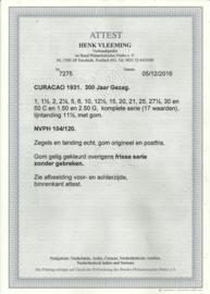 Curacao 104/120 300 Jaar vestiging Gezag op Curaçao Postfris (1) + Certificaat