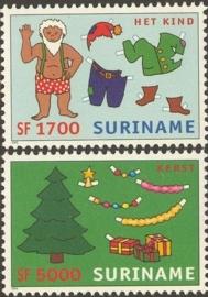 Suriname Republiek 1173/1174 Kerst en Kind 2002 Postfris