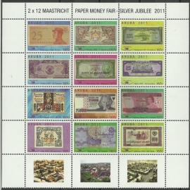 Aruba 529/538 Papiergeldbeurs Maastricht 2011 Postfris