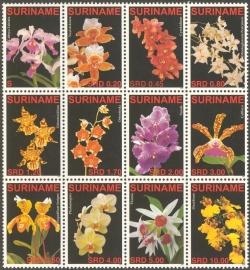 Suriname Republiek 1419/1430 Orchideeën 2007 Postfris