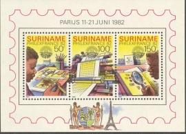Suriname Republiek 304 Blok Int. Postzegeltent. PhilexFrance 1982 Postfris