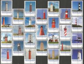 Complete set Persoonlijke Postzegels Vuurtorens Postfris (25 stuks)