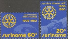 Suriname Republiek 198/199 Rotary International 1980 Postfris