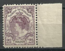 Nvph  78C (11×11½) 2½ Gld Koningin Wilhelmina Bontkraag Postfris (1)  + Certificaat