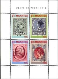 Sint Maarten 230/233 Zegel op Zegel 2014 Postfris
