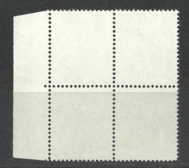 Testzegels TB6 (14×14) in blok van 4 Ongebruikt