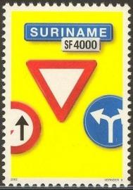 Suriname Republiek 1148 Verkeersbord 9e Uitgifte 2002 Postfris