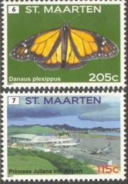 Sint Maarten  45/46 Frankeerzegels (6 en 7) Postfris