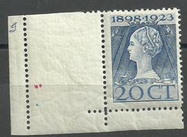Nvph 125H (11½×12½) 20 ct Jubileum 1923  Postfris (3)