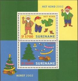 Suriname Republiek 1175 Blok Kerst en Kind 2002 Postfris