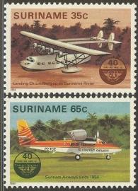 Suriname Republiek 397/398 40 Jaar Burgerluchtvaart 1984 Postfris